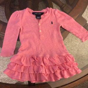 Ralph Lauren Pink Dress Girls Long Sleeve